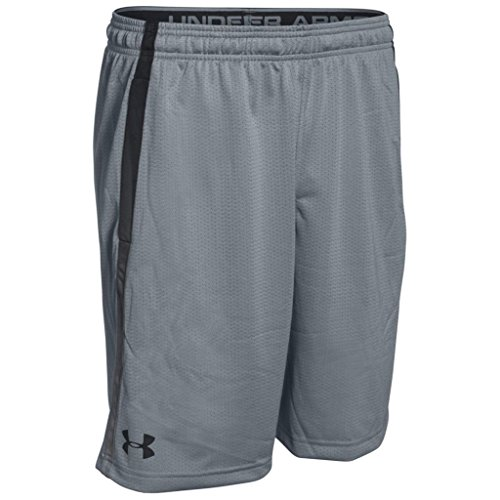 Under Armour Herren Tech Mesh Shorts, Steel, L