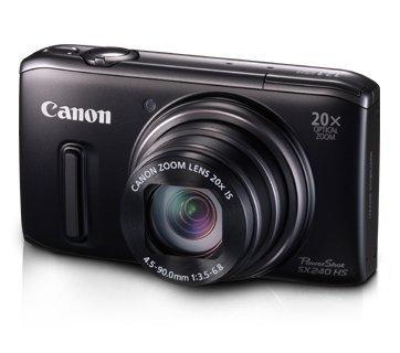 Preisvergleich Produktbild Canon PowerShot SX 240 HS Digitalkamera (12,1 Megapixel, 20-fach opt. Zoom, 7,6 cm (3 Zoll) Display, bildstabilisiert) schwarz