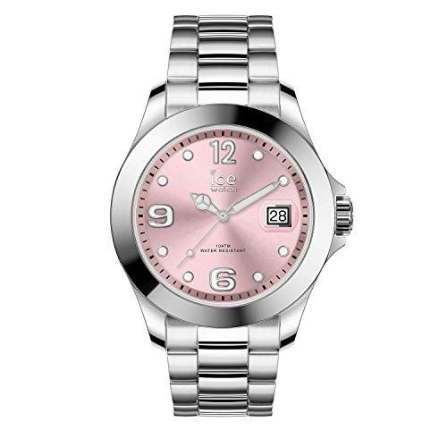 Ice-Watch - Ice Steel Light Pink Silver - Montre Argent pour Femme avec Bracelet en Metal - 016892 (Medium)
