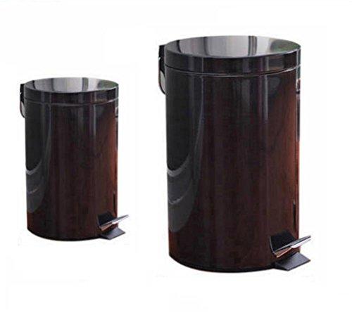 xxffhbidoni-della-spazzatura-bidoni-della-spazzatura-cestino-can-3l12l-set-dress-nero-rotondo-pedale