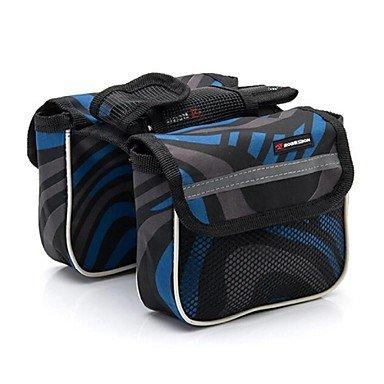 ZXC/Basecamp? Fahrrad Modische Tasche theftproof Pack mit Reflektorstreifen W13 Rot