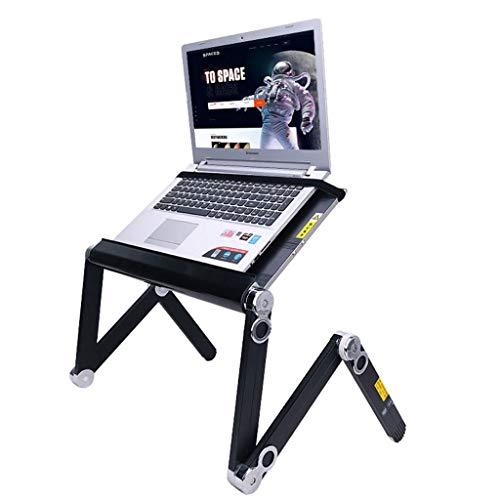 NJ Table Pliante- Table élévatrice multifonctionnelle, Table pour Ordinateur Portable à la Maison (Couleur : Noir, Taille : 52x24.5cm)