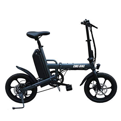 SNDDC Bicicleta eléctrica 16 Pulgadas Ebike Plegable
