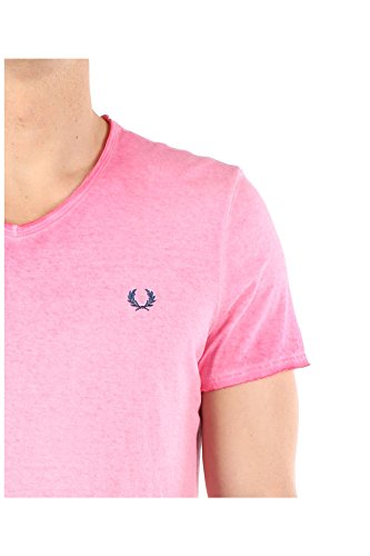 300222547131 Fred Perry Homme Coton Rose Rose
