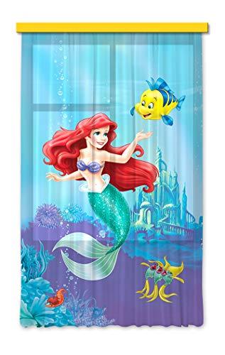 Gardine/Vorhang FCS L 7112 Disney, Ariel, 140 x 245 cm, (Disney Ariel Stoff)