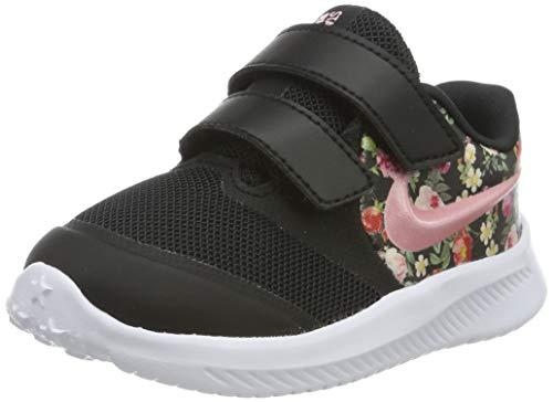 Nike Baby Mädchen Star Runner 2 VF (TDV) Sneaker, Schwarz (Black/Pink Tint-Pale Ivory 001), 23.5 EU