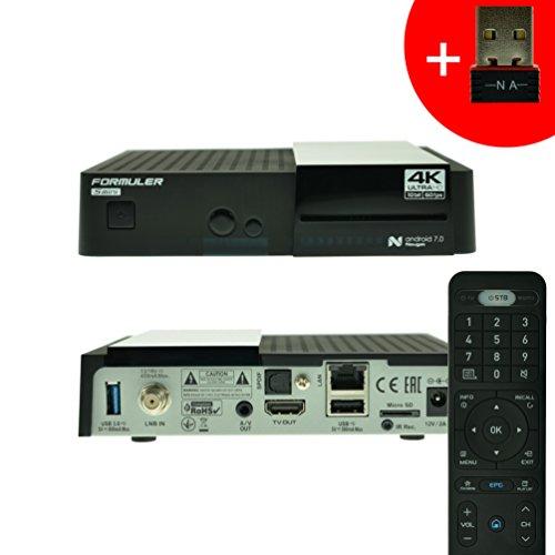 Formuler S Mini 4K Ultra HD Android 7.0 Nougat DVB-S2 Satellite- IPTV Receiver mit 150Mbit WIFI NA-Digital