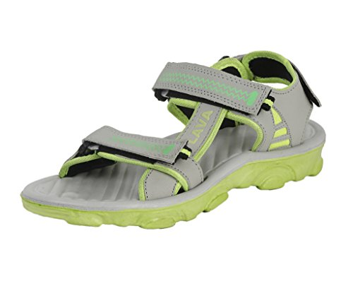 ABS Premium Two Color Sandals For Men (Grey and Green)  available at amazon for Rs.339