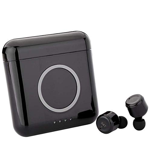 ZGYQGOO Bluetooth Headset Invisible Kabellose In-Ear-Kopfhörer 4.2 Intelligente Rauschunterdrückung Kabelloses Laden Mit Ladefach, Bewegung der kabellosen Ohrstöpsel, Schwarz