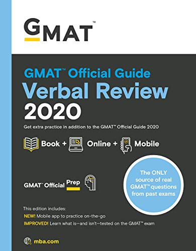 GMAT Official Guide Verbal Review 2020: Book + Online