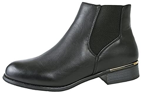 Lora Dora Womens Girls Faux Leather Chelsea Ankle Boots Kids Casual School Shoes Size UK 10-8