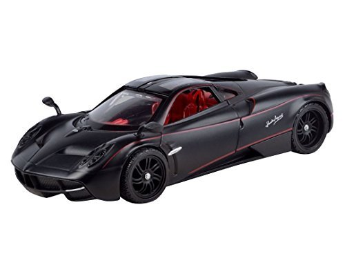 motormax-pagani-huayra-1-24-scale-diecast-model-car-satin-paint-matte-black-by-motor-max