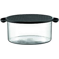 Bodum Hot Pot - Fuente de horno con tapa de silicona, 2,5 l, color negro
