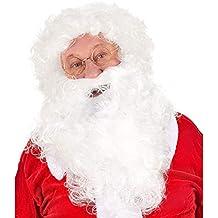 Parrucca e Barba Bianca Babbo Natale per Vestito Santa Claus Taglia Unica  Fair e63fc1f4434