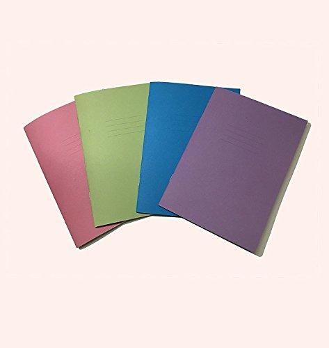 Scuola quaderni A5–24pagine 4colori assortiti cover–Wide Fein–Confezione di 5–10mm con margini e liscia superficie per insegnante notes o osservazioni da party Decor