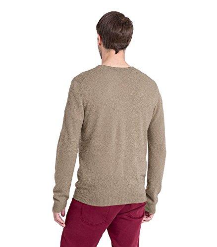 WoolOvers Pullover mit V-Ausschnitt aus Merinowolle-Kaschmirwolle für Herren Pepper