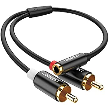 15 Feet Heavy Duty 2 RCA Male to 2 RCA Female Stereo Audio Cable Copper Shell J/&D Gold-Plated 2RCA to 2RCA Cable RCA Cable
