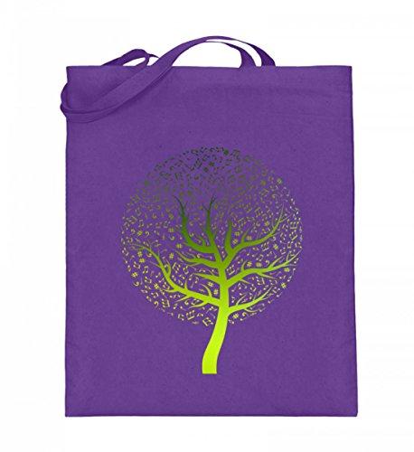 Hochwertiger Jutebeutel (mit langen Henkeln) - Music Tree Violet