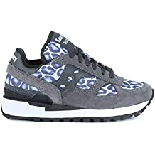 Sneaker Saucony Shadow O' Smu moteada y de ante gris