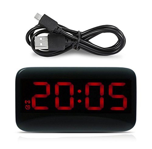 GGLLBL123 Rote LED-Anzeige elektronische Sprachsteuerung Wecker Hintergrundbeleuchtung Digitale Desktop-Uhr Uhr mit USB-Kabel 12CM * 6.6CM