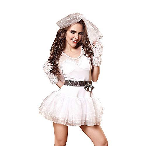 Halloween Kostüm Mädchen, Schneewittchen Sex Kleidung, europäische und amerikanische Uniformen Versuchung Nachtclub Kleidung, Strümpfe Rock Anzug,XL -