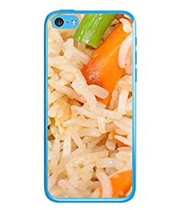 FUSON Designer Back Case Cover for Apple iPhone 5c (Veg Rice Hot With Raita White Top Recipes Food)