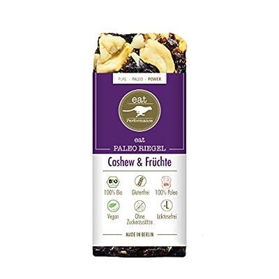 Paleo Bar Cashews & Fruits (10x 40g) by eat Performance (organic & vegan cereal bar, no added sugar, gluten free, lactose free, superfood)