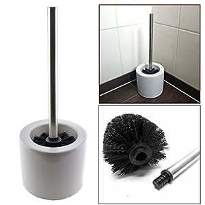 wc toilettenb rstenhalter carat wei keramik toilettenb rste im st nder b rstengarnitur bad. Black Bedroom Furniture Sets. Home Design Ideas
