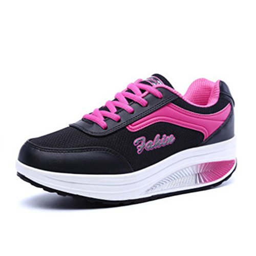 Scarpe da Ginnastica Piattaforma Casual Stringate Tennis Running Sneakers Sportive Outdoor Donna