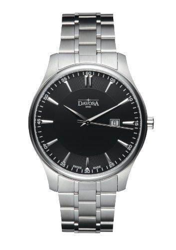 Davosa Herren-Armbanduhr Analog Edelstahl schwarz 16346355