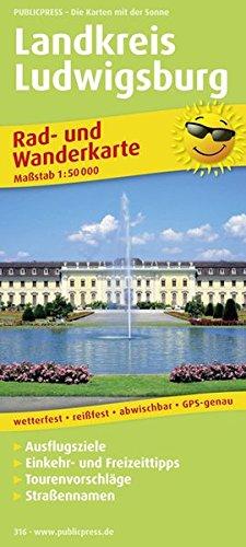 Landkreis Ludwigsburg: Rad- und Wanderkarte mit Ausflugszielen