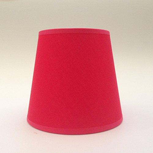 Rot Kleine Kerze Clip auf Lampenschirm Deckenleuchte Kronleuchter Wandleuchte Lampe Lampenschirm handgefertigt Baumwolle Stoff Rote Eisen-auf Stoff