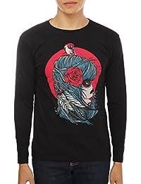 Unisex Cotton Round Neck Full Sleeve Black Printed T-Shirt By Tamaacha