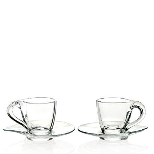RCR Trends Happy Espresso Set 6 Pièces Verre Transparent