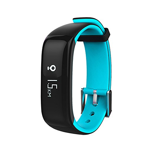 Fitness Tracker, Elospy Bluetooth Intelligente Armbanduhr Fitness Armband Smart Watch mit Herzfrequenz Schlaftracker Schrittzähler Überwachung Sport Uhr Smartwatch Kompatibel mit Android iOS