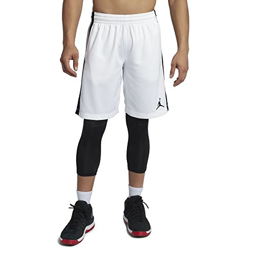 Nike Herren Jordan Flight Weiß Polyester Basketballshorts M - Air Jordan Flight