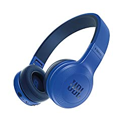 JBL E45BT Wireless On-Ear Headphones (Blue)