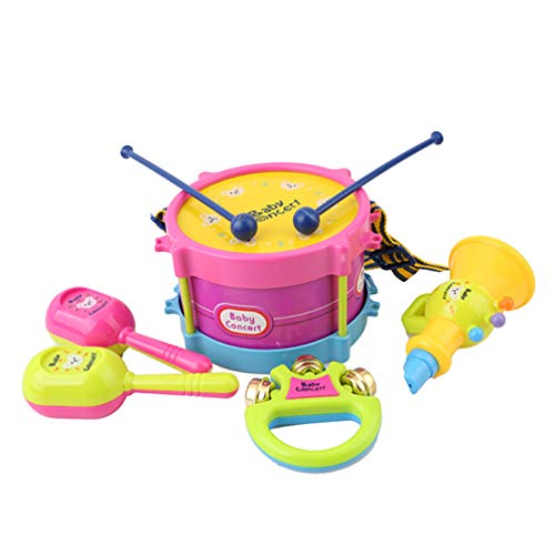 LJSLYJ Mini Musikinstrumente Set Jazz Trommel Spielzeug Schlagzeug Geschenke für Baby Kinder