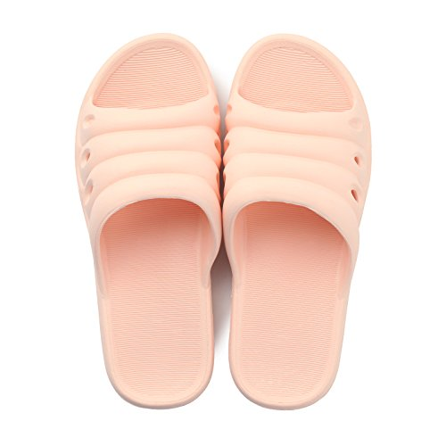 DogHaccd Hausschuhe,Hausschuhe Sommer Paare Männer und Frauen Home Mop Licht Soft Indoor Handtuch Bäder baden Rutschfeste tragen Home Sandalen, Light Pink, 38-39