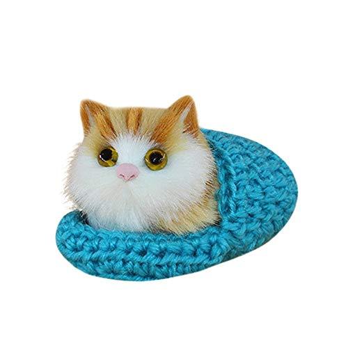 TDFGCR Nette Plüsch-Katze-weiches Tier spielt Puppe lebensechte Simulation Kinder Mädchen Blau