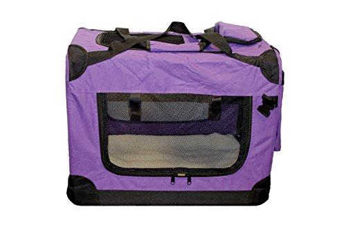 Faltbare Hundebox Hundetransportbox Hunde Katzen Katzentransportbox Katzenbox (S, Lila)