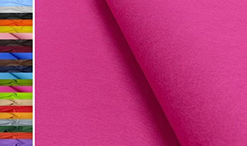 StoffBook 1MM DICKE UNIVERSELLE FILZSTOFFE -90CM STOFF STOFFE, D499 (Pink)