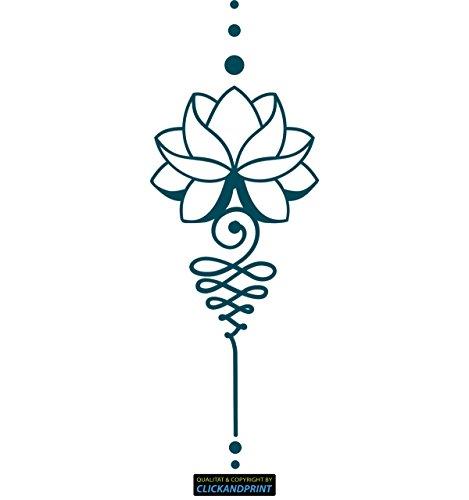 ber » Lotus Dekoration, 110x39,7cm, Metallic Teal • Dekoaufkleber / Autoaufkleber / Sticker / Decal / Vinyl (Teal Dekorationen)