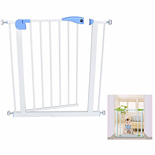 House of Quirk Safety Gate Stair Fence and Barrier For Kids Pets - White