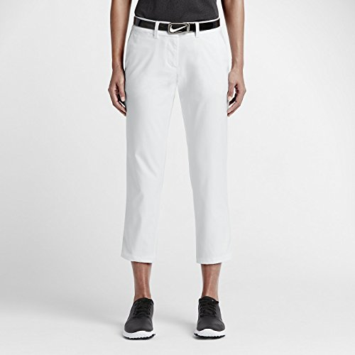 Nike Women's Modern Rise Tech Crop Pant - 16 - White (Golf Nike Rise Modern)