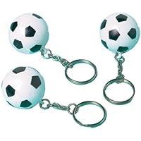 Amscan - 12 portachiavi con pallone da calcio