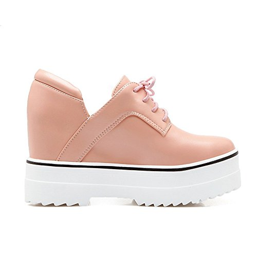 Adee Mesdames clair polyuréthane Pompes Chaussures Rose - rose