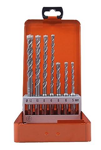Projahn 83300 Ensemble de 7 mèches avec étui pour marteau perforateur 5-12 mm