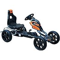 HOMCOM Go Kart Racing Deportivo Coche de Pedales para Niños de 3-12 Años con