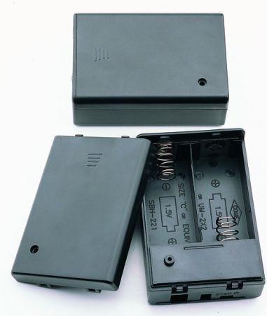 2 X C UM-2 Batteriehalter mit Ein / Aus Schalter